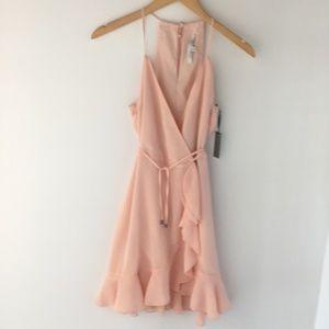 Lovers + Friends Gigi Wrap Dress Peach REVOLVE